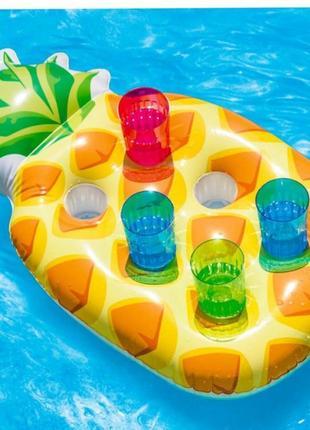 Надувной плавающий держатель для напитков intex 57505