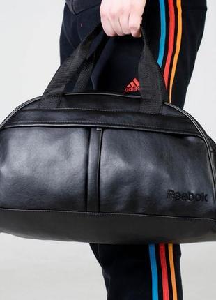 Топ продаж‼️ спортивная дорожная сумка из качественного ☝️кожзама с чёрным вышитым лого