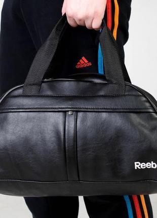 Топ продаж‼️ спортивная дорожная сумка из качественного ☝️кожзама с белым вышитым лого