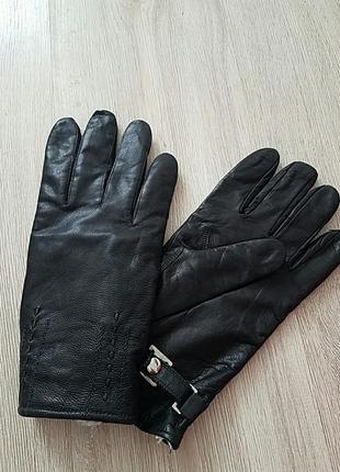 Мужские перчатки кожа