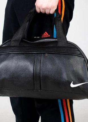 Топ продаж ‼️спортивная дорожная сумка из качественного ☝️кожзама с белым вышитым лого