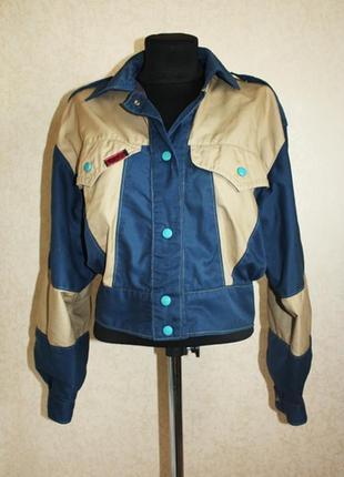 Куртка двухцветная из плащевки, р.m-l