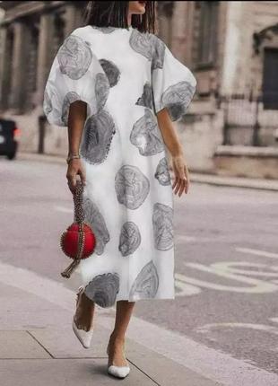 Платье с рукавами буфами  в стиле alexander mcqueen