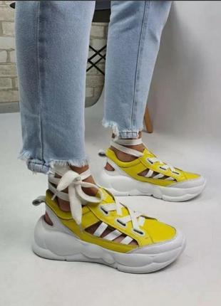🔥скидка⚠️летние кроссовки 🔥arcoboletto 560500 белые желтые