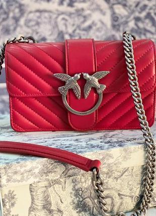 Сумка женская красная кожа бренд