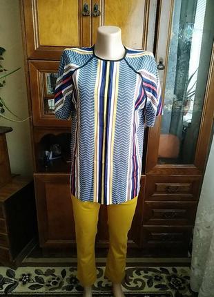 Оригинальная удлиннённая,шёлковая блузка asos