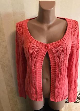 Шикарная розовая кофточка,свитерок