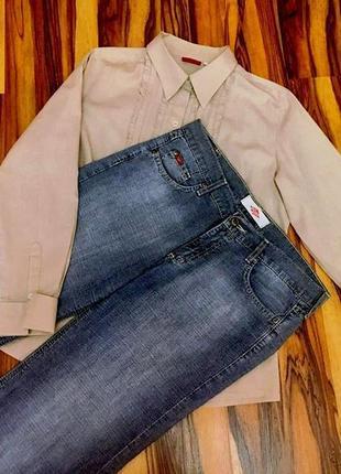 """Классные джинсы-кюлоты """"lee cooper""""-оригинал из облегченного коттона"""