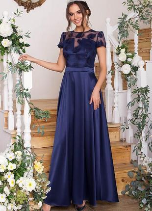 Очень красивое, длинное вечернее платье с россыпью пайеток 💙