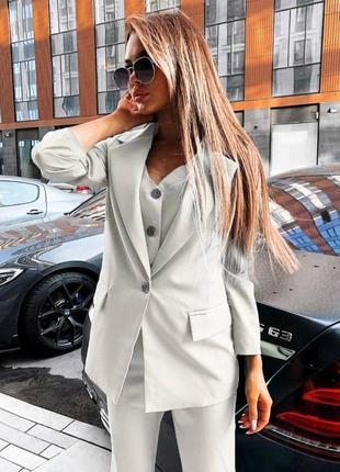 Костюм тройка, пиджак, брюки, костюм деловой