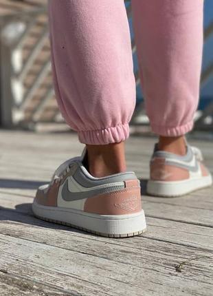 Кеды nike air jordan  pink grey