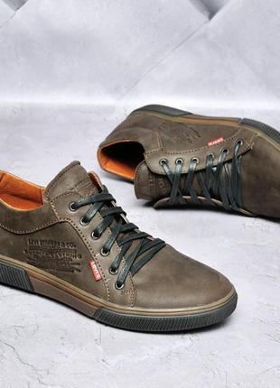 Levi's мужские кожаные кеды/туфли