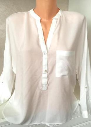Трендовая белоснежная блуза от zara
