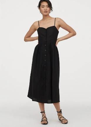 Льняное платье , сарафан h&m, zara ,mango
