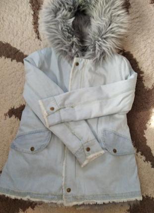 Супер стильная джинсовая курточка парка