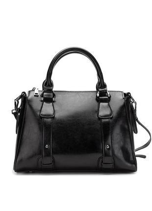 Женская кожаная классическая ручная сумка
