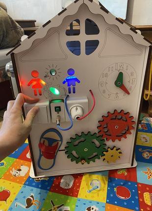 Игрушка развивающая дом (бизидом)