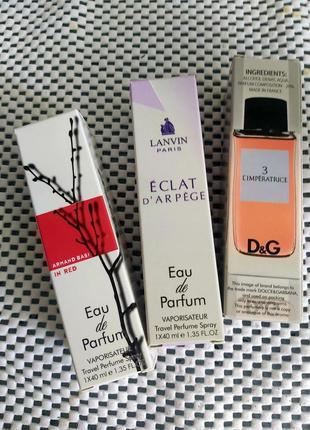 Набор: 3 фл по 40 мл, свежие и популярные женские ароматы, тестер 40 мл, духи, парфюм