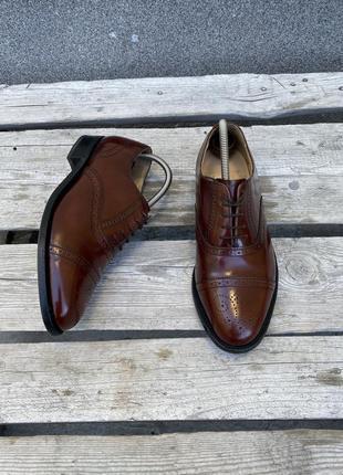 Оригинал кожаные туфли barker england премиум броги