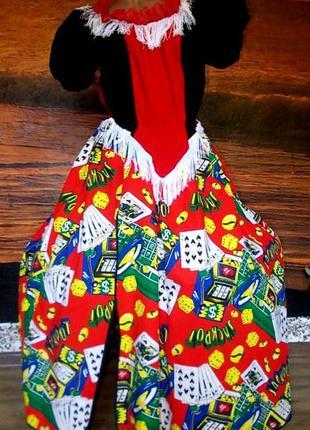 Маскарадное платье королевы казино 50-52 размер хлопок