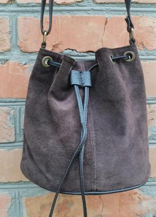 Шикарная кожаная сумка - мешок