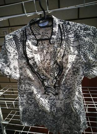 Красивая новая шифоновая блуза, размер 8-10