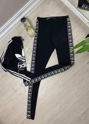 Adidas адидас  женские лосины леггинсы тайтсы спортивные тренировочные чёрные