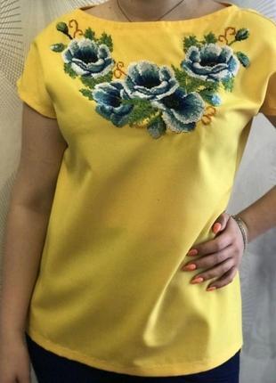 Вышитая бисером блуза