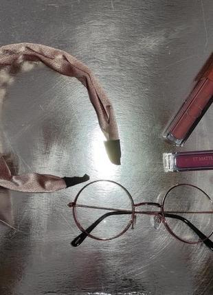 Имиджевые очки круглые золотые гарии поттер