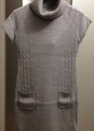 Тёплое вязанное платье туника incity
