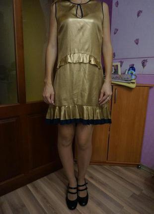 Красивое платье, шёлк, xs-s