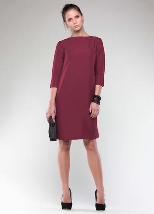 Платье бордовое maurini xs