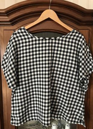 Тонкая невесомая хлопковая блуза футболка