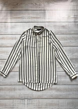 Актуальная рубашка блуза блузка в полоску полосатая шифон