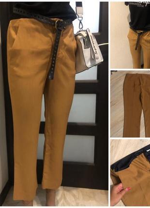 Стильные лёгкие тонкие брюки штаны капри бриджи