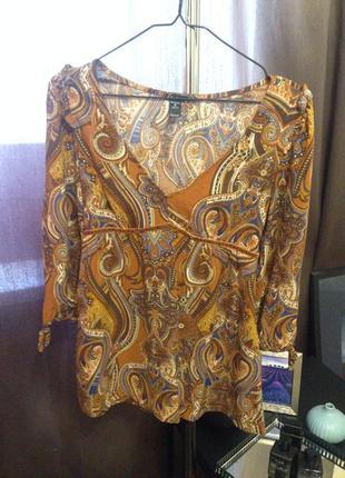 Stradivarius этно блуза