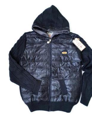 13-14л свитер куртка бомбер капюшон змейка 158/164 супер