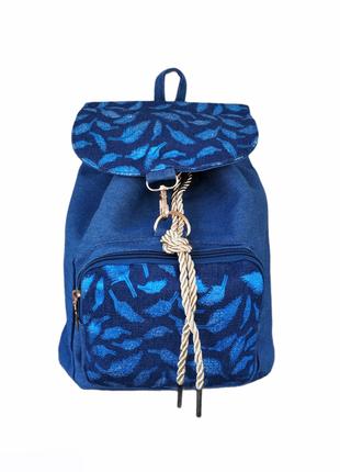 Джинсовый женский стильный рюкзак, городской, прогулочный