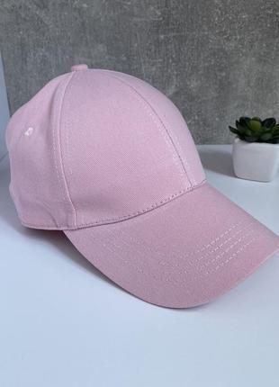 Женская бейсболка кепка розовая