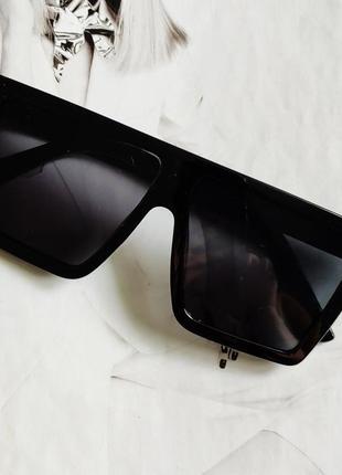 Солнцезащитные очки квадрат черный глянцевый