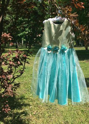 Супер платье  для маленькой принцессы  4-7лет