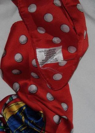 Мужской платочек на шею для игры в гольф - 59х58 - италия3 фото