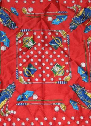Мужской платочек на шею для игры в гольф - 59х58 - италия2 фото
