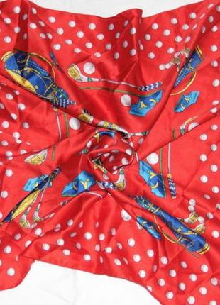 Мужской платочек на шею для игры в гольф - 59х58 - италия1 фото