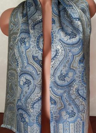Шикарный шарф из шелка и шерсти, франция
