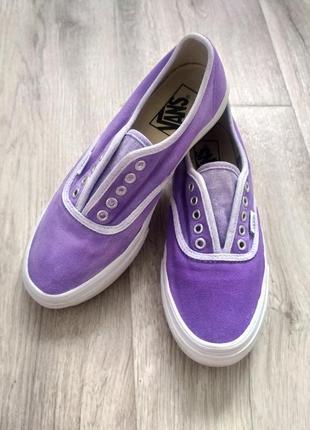 Кеды vans под кастомизацию фиолетовые сиреневые