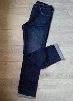 Hugo boss мужские фирменные джинсы селвидж р. 35 оригинал