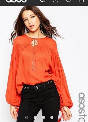 Блуза с широкими рукавами asos