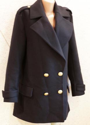 Бесплатная доставка пальто zara бойфренд милитари оверсайз с золотыми пуговками размер xl