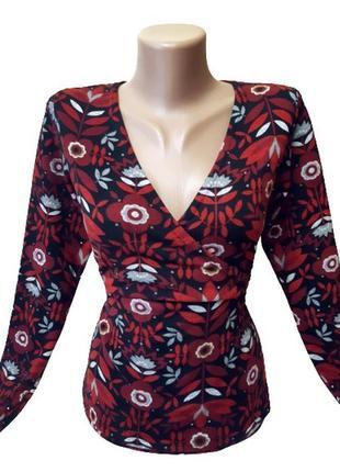 Блузка на запах amari, ткань похожа на велюр